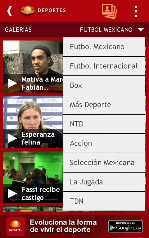 Televisa Deportes - screenshot