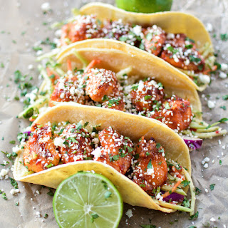Oven Fried Korean Chicken Tacos.