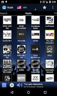 RUSH online radio and TV Screenshot 1