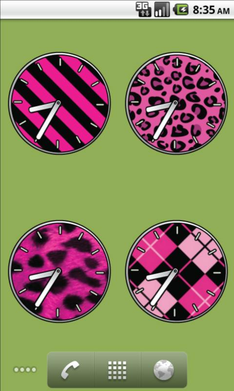 Pink Clocks - FREE- screenshot