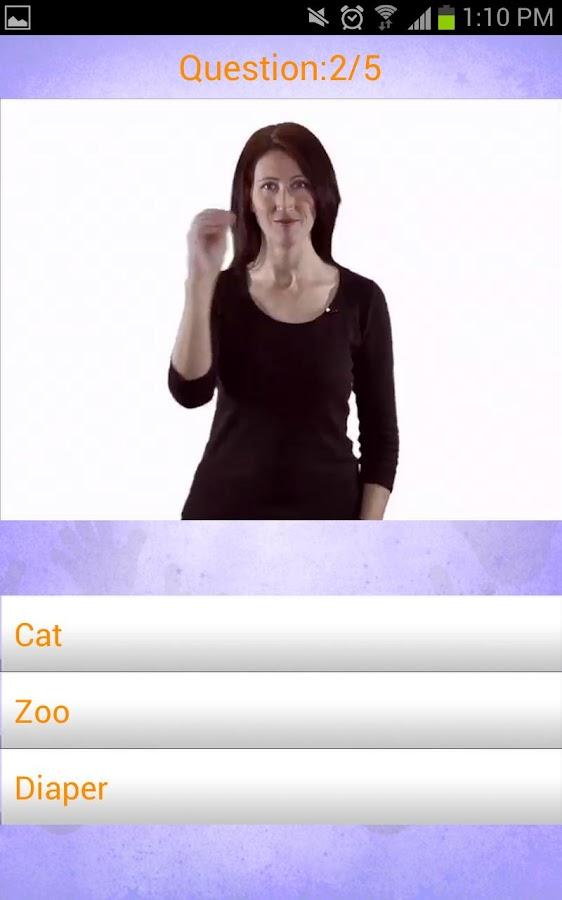 Baby Signing Lite - MSH - screenshot