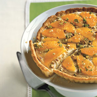 Mascarpone Tart with Honey, Oranges, and Pistachios