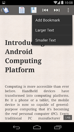 ePub Reader for Android  screenshots 3