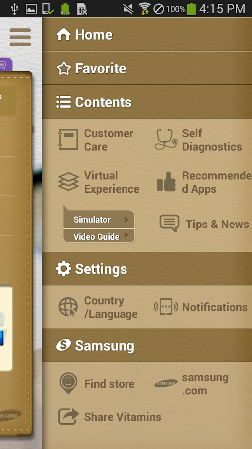 Vitamins for Samsung Mobile - screenshot