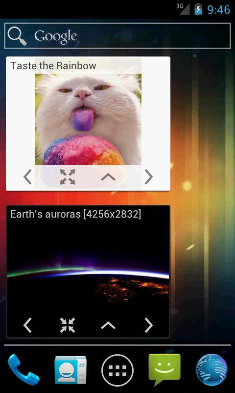 aww: reddit pictures widget - screenshot