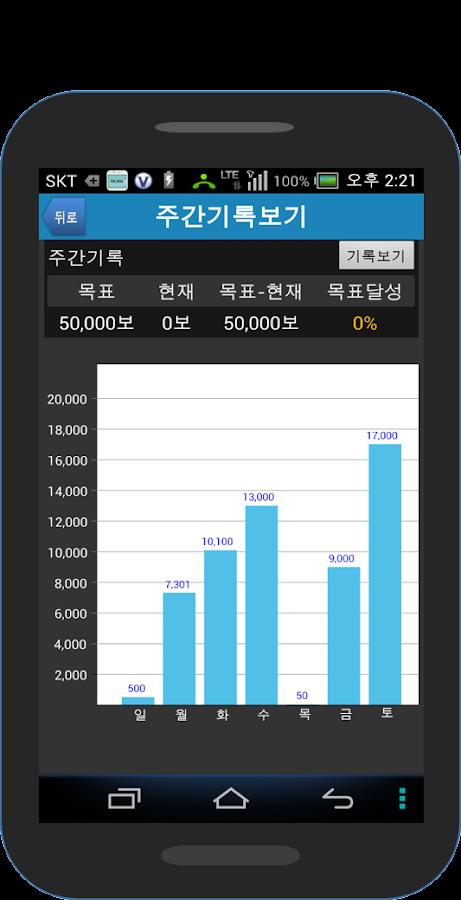 75 만보기 만보계 건강관리 걷기 운동 다이어트 - screenshot
