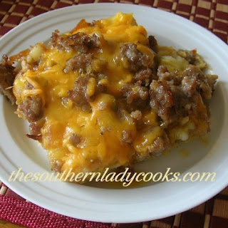 HASH BROWN & SAUSAGE BREAKFAST CASSEROLE