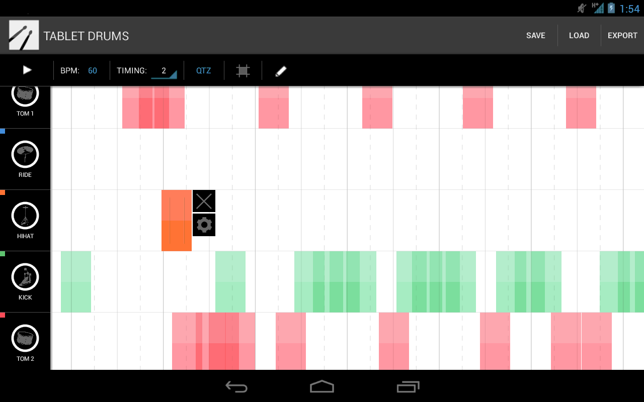 Tablet Drums - screenshot