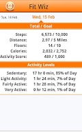 Screenshot of Fit Wiz for use with FITBIT®