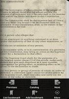 Screenshot of Ghana Constitution