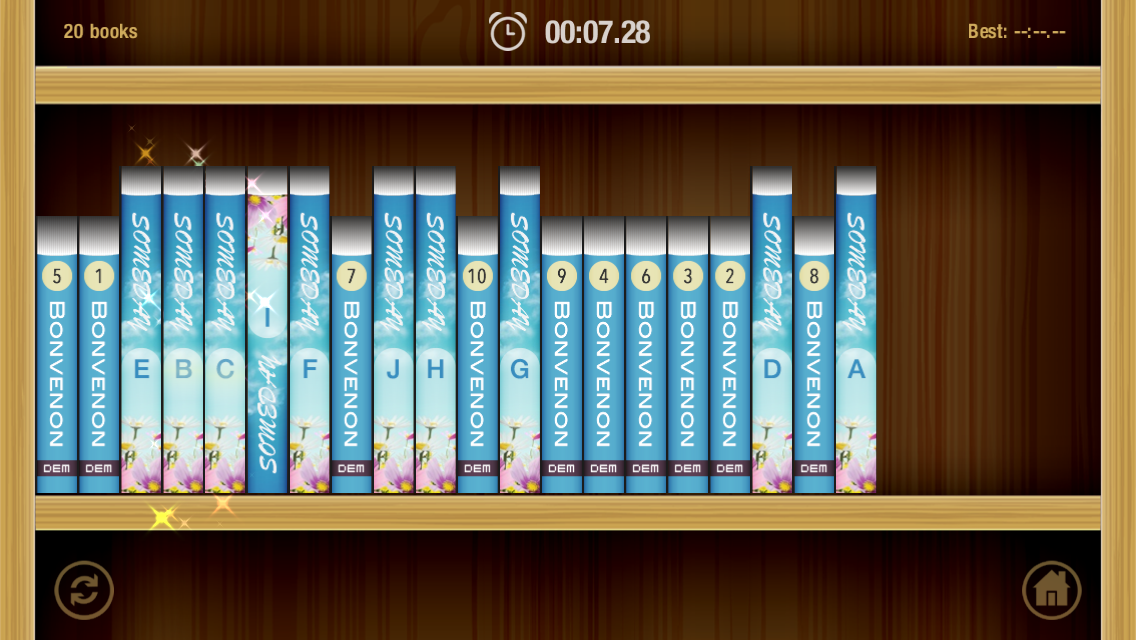 Sorting Books- screenshot