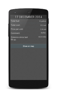 Fuel Calculator - screenshot thumbnail