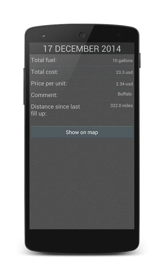 Fuel Calculator - screenshot