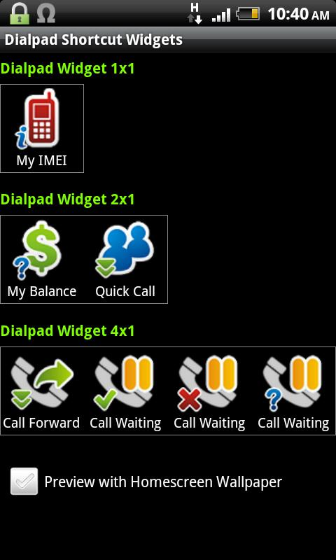 Dialpad Shortcut Widgets- screenshot