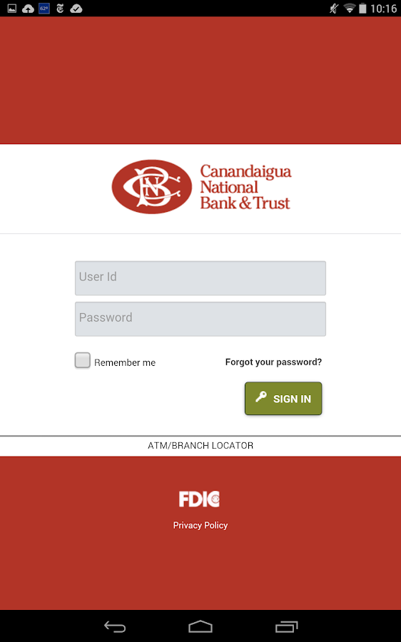 CNB Mobile Online Banking - screenshot