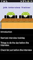 Screenshot of Job Interview Trainer
