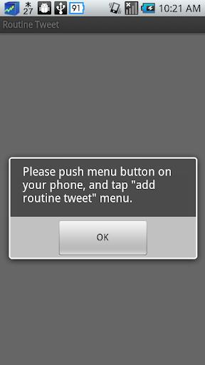 Routine Tweet
