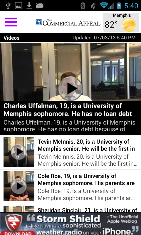 Memphis Commercial Appeal - screenshot