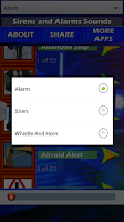 Screenshot of Sirens and Alarms Sounds