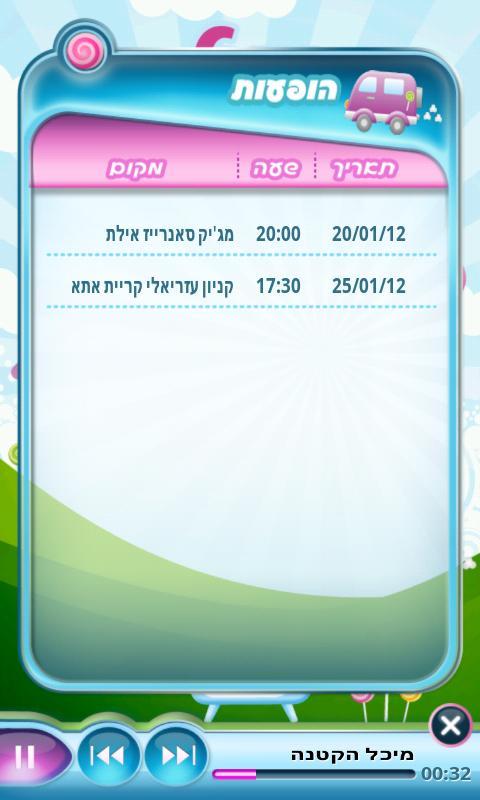 מיכל הקטנה- screenshot