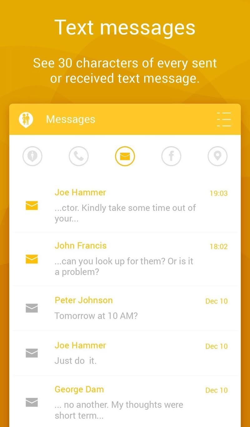 Couple Tracker Pro - Cell phone monitoring Screenshot
