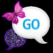 GO SMS - Glitter Candy Sky