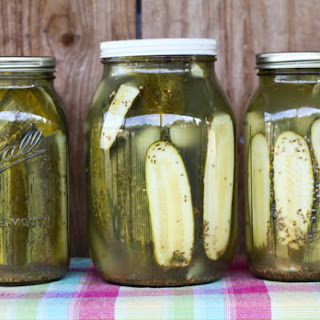 Homemade Claussen Knock-Off Pickles.