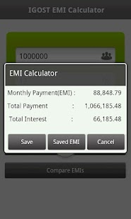 EMI Calculator - screenshot thumbnail