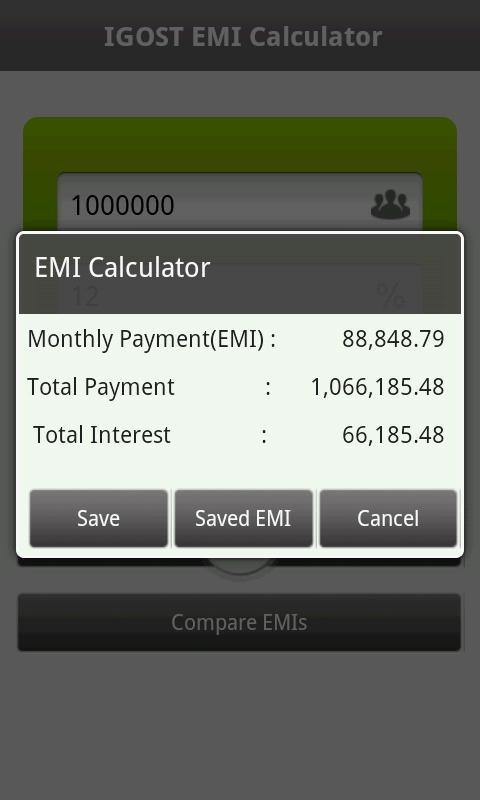 EMI Calculator - screenshot