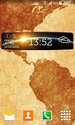 世界天氣和時鐘部件