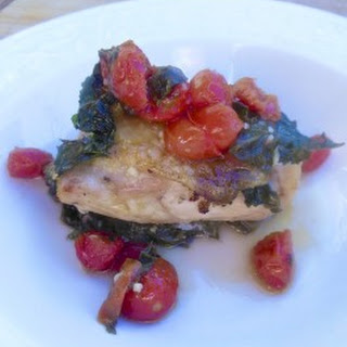 Baked Chicken Thighs with Spinach & Tomatoes