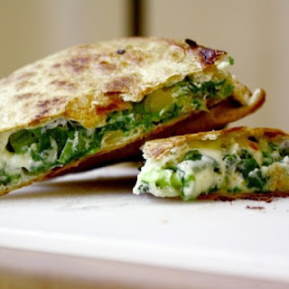 Spinach Pie Quesadilla