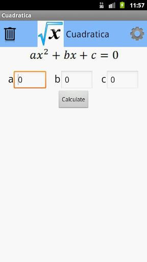 Cuadratica: Equation solver
