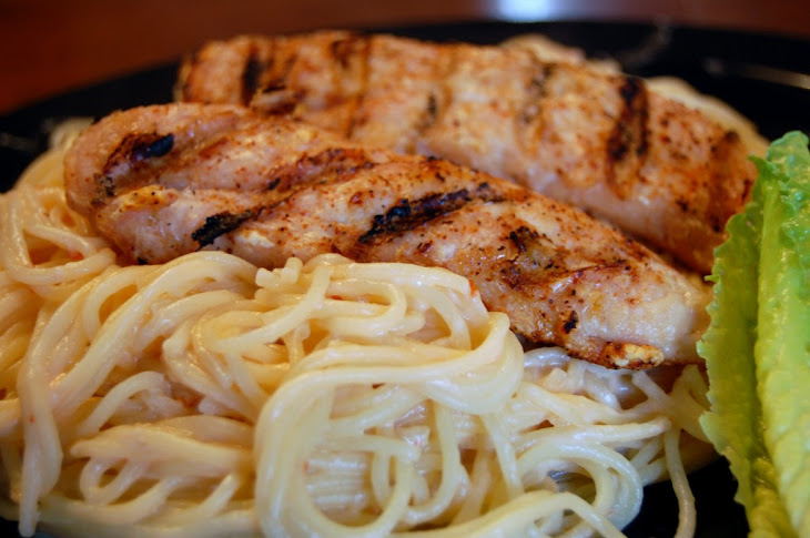 Sweet Chili Linguine with Grilled Chicken Recipe