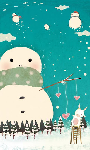 Love of Snowman LiveWallpaper
