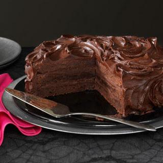 Triple Layer Brownie Cake.