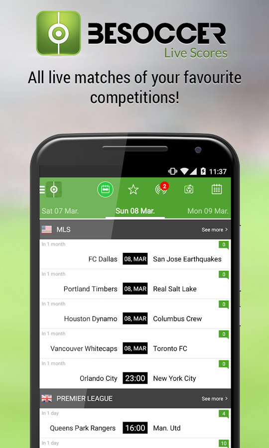BeSoccer - Live Score - screenshot