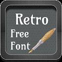 Retro Font Style icon