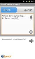 Screenshot of iSpeech Spanish Translator