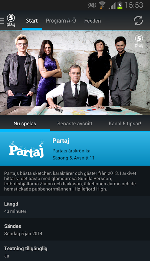 Kanal 5 Play - screenshot
