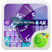 Purple fantasy GO Keyboard