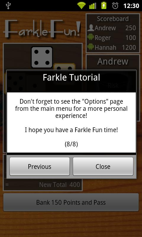 Farkle Fun Free - screenshot
