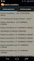 Screenshot of Roteiro Homilético
