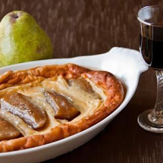 Pedro Ximenez Sherry, Vanilla Bean & Cinnamon Poached Pear Clafoutis Recipe