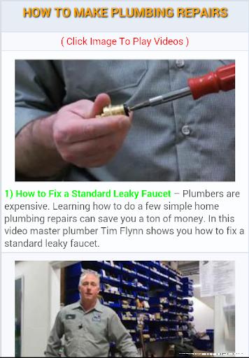 How to Make Plumbing Repairs