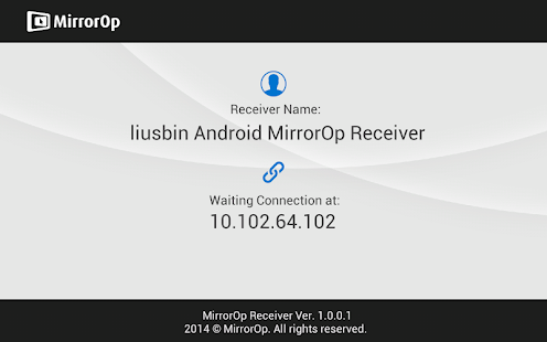 MirrorOp Receiver- screenshot thumbnail