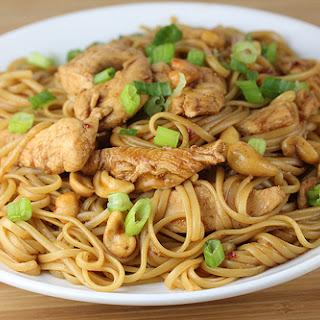Chicken and Cashew Pasta.