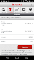 Screenshot of Synovus Mobile Banking 2.0.0