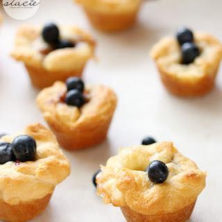 Blueberry Cheese Tarts.