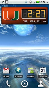 Miami Hurricanes Clock Widget - screenshot thumbnail
